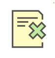 reject document icon set design 48x48 pixel vector image vector image