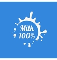 Round Splash Milk Product Logo vector image vector image