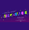 sale banner template design paper cut vector image vector image