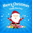 santa claus and snow theme merry christmas and vector image vector image