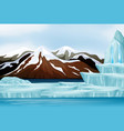 scene with snow on mountains vector image vector image