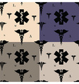 Seamless caduceus pattern vector image vector image