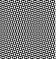 Seamless geometric monochrome curved shape pattern vector image vector image