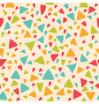 Seamless pattern with triangles Geometric vector image vector image