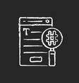 seo copywriting chalk white icon on black vector image vector image