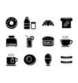 set breakfast icon flat design symbols vector image