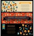 set flat design halloween card templates vector image vector image