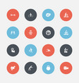 set of 16 editable exercise icons includes vector image vector image