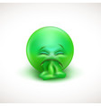 sick emoticon with tongue out vector image vector image