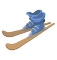 Ski boots and skis cartoon vector image