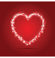 Sparkle heart background vector image vector image
