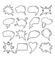 speech bubbles set thin line style vector image vector image