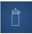 Sport water bottle line icon vector image