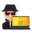 spy avatar isolated icon vector image