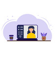 stay and work from home vector image