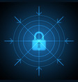 technology digital cyber security lock target vector image vector image