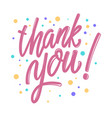 Thank you lettering phrase for postcard banner