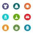 tissue icons set flat style vector image vector image