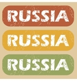 Vintage Russia stamp set vector image vector image