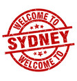 welcome to sydney red stamp vector image vector image