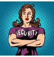 woman security guard vector image vector image