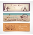 World landmark banners vector image