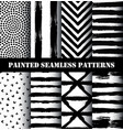 painted pattern set vector image