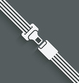 safety belt symbol vector image