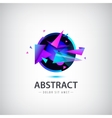 abstract sphere logo with geometric shapes vector image