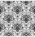floral seamless black lace pattern vector image