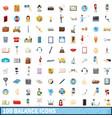 100 balance icons set cartoon style vector image vector image