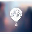 aircraft logo happy birthday vector image vector image