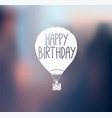 aircraft logo happy bithday vector image vector image