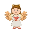 angel wing love heart icon vector image vector image