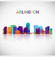 arlington virginia skyline silhouette in colorful vector image vector image