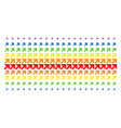arrow up right shape halftone spectral grid vector image vector image
