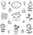 art of spring theme doodles vector image vector image