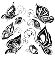Artistic pattern with butterflies suitable for a vector image vector image
