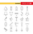 barber black line icon - 25 business outline icon vector image