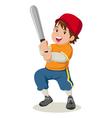 Baseball boy vector image vector image