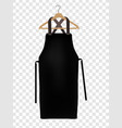 black kitchen apron chef uniform for cooking vector image vector image