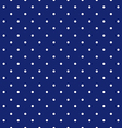 blue background polka fabric with white little vector image vector image