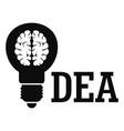 brain idea logo simple style vector image vector image