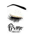 brow master logo vector image vector image