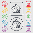 business team icon sign symbol on the Round and vector image vector image