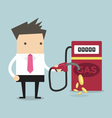 Businessman and gas station vector image vector image