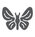 butterfly glyph icon nature and fly insect sign vector image vector image