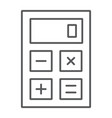 calculator thin line icon office and work vector image vector image