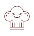 cartoon fun hat for chef kawaii vector image vector image