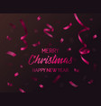 christmas or 2018 new year falling paper confetti vector image